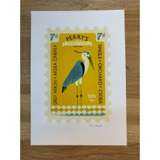 Grey Heron - Screen Print